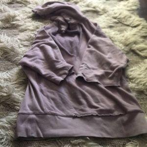 Free People distressed beach hoodie